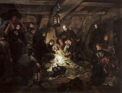 The Death of Nelson, 21 October 1805 by Arthur Devis, 1807