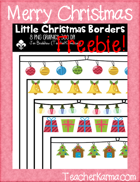 Holiday borders for free TeacherKarma.com
