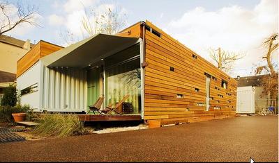 Blog da roca im veis casas containers for Loft modernos exterior