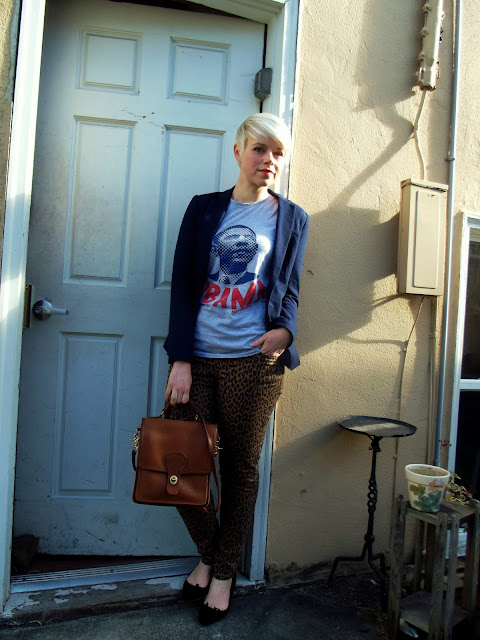 fleur d'elise, blonde, pixie cut, obama, fall, fashion, seattle