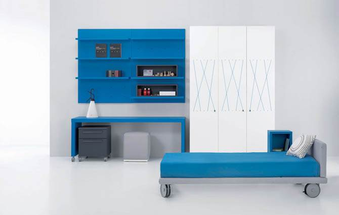 blue modern junior room design