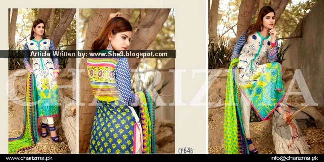 Charizma Swiss Voil Dress Collection 2015 Volume-01
