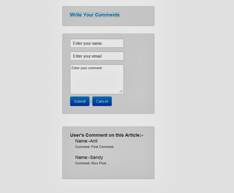 jQuery Ajax Comment Box