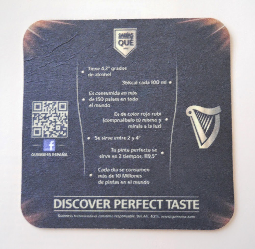 guinness beer coaster