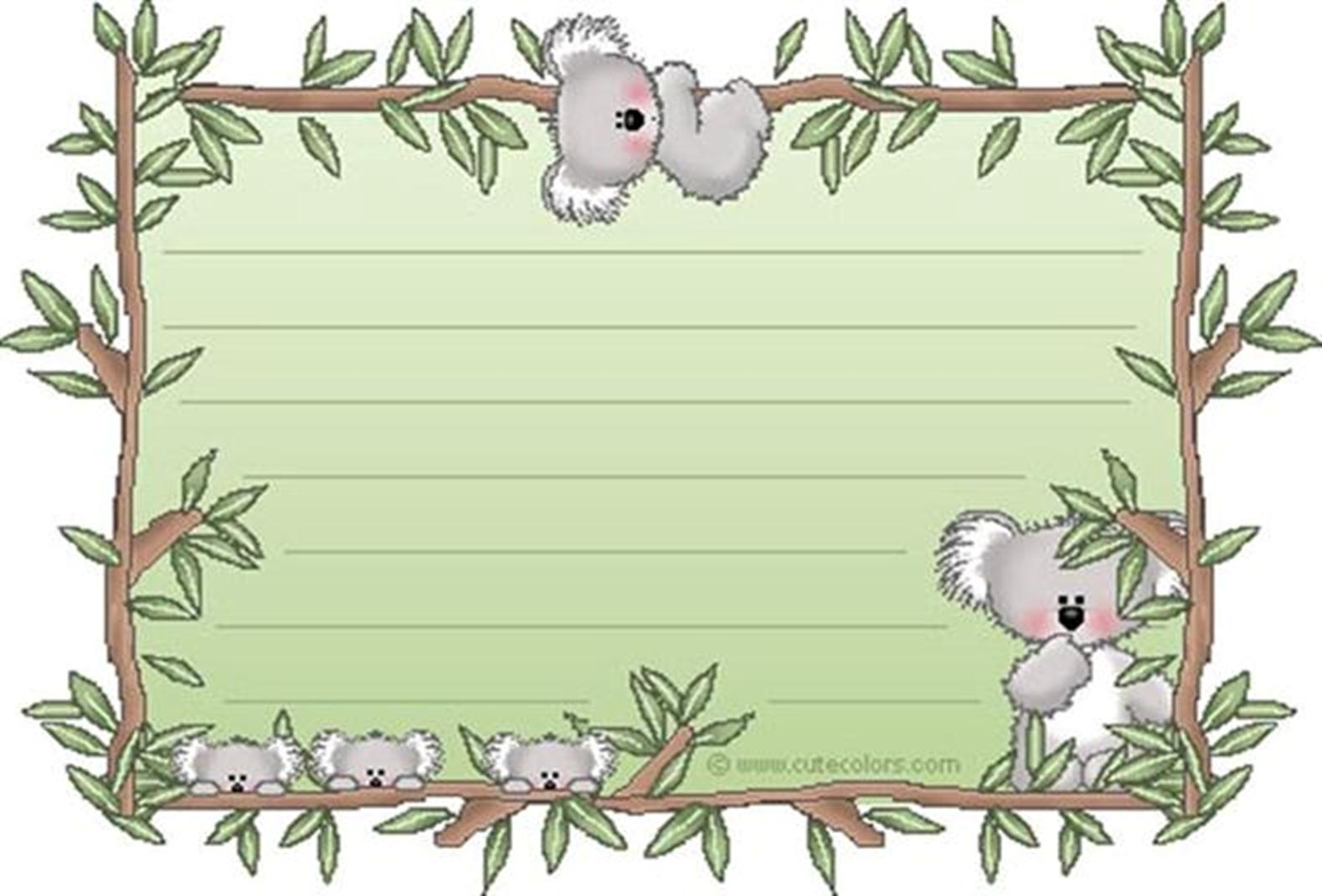 Algopekes marco koala for Paginas decoradas