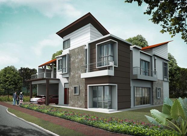 desain rumah minimalis modern dengan konsep bangalo dengan