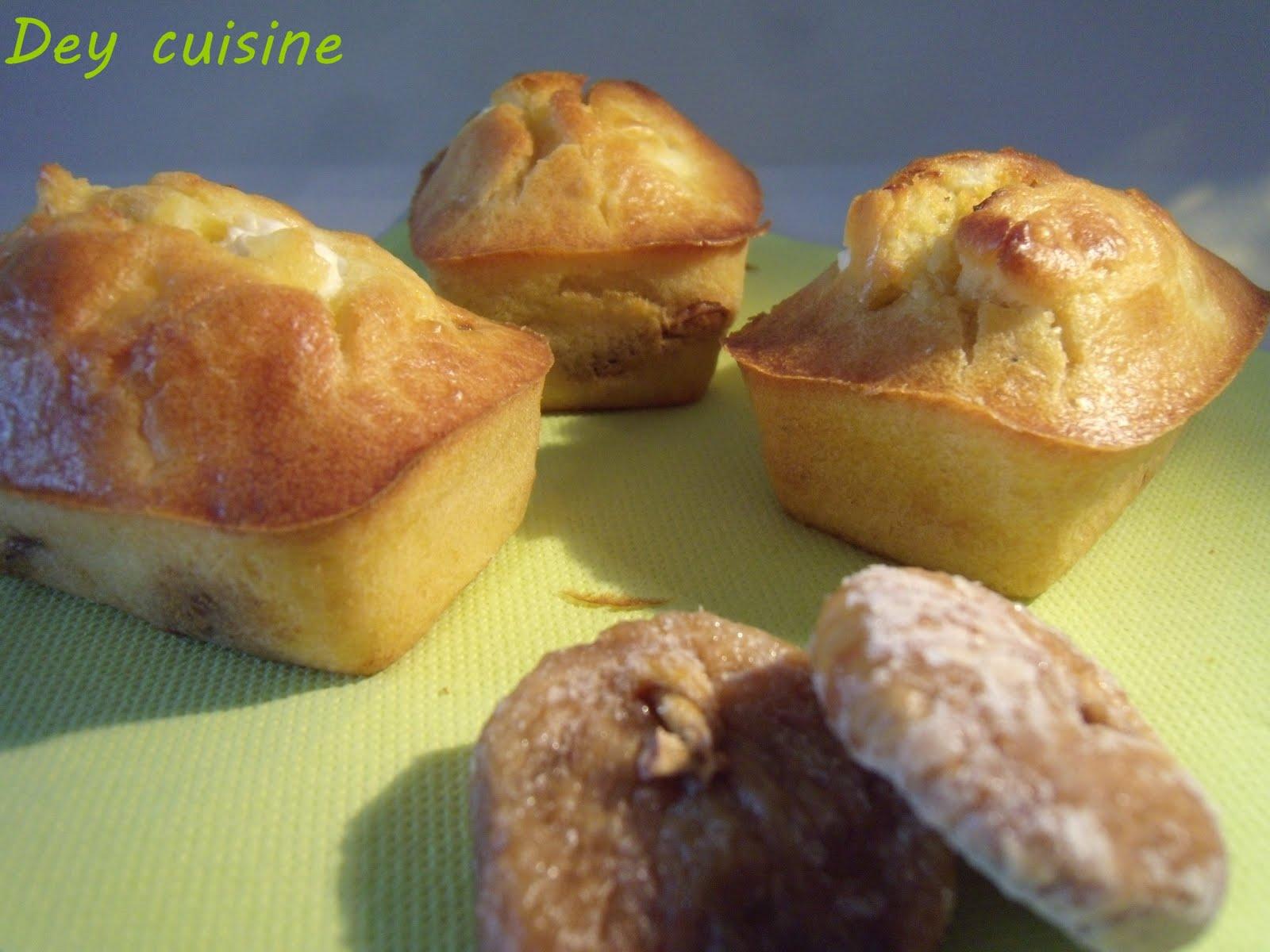 dey cuisine mini cakes au fromage de ch vre figue s che. Black Bedroom Furniture Sets. Home Design Ideas