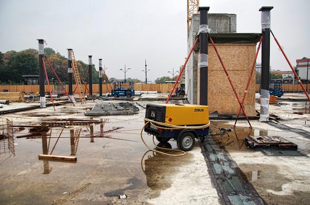 Baustelle Gesundbrunnen, Neubau Empfangsgebäude, Fertigstellung 2014, 13357 Berlin, 12.10.2013