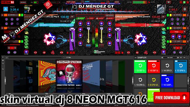 SKIN VIRTUAL DJ 8 MGT616 **2016