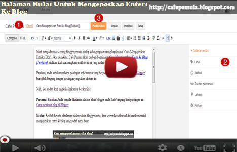 Halaman Mulai untuk Mengeposkan Enteri ke Blog