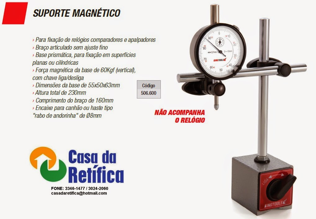 6bfb5fd14 Base Magnética - Casa da Retífica - Ferramentas para Retífica de Motores