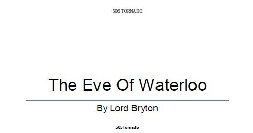 eve of waterloo by lord byron 15-04-2012  sister projects: data item the eve of waterloo, by lord byron (1788-1824) here is another old reading-book gem that will always be dear to every boy's heart if he only reads it a few times.