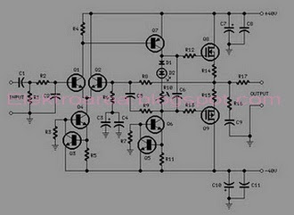 AMPLIFIER    MOSFET 60WATT SCHEMATIC    DIAGRAM         Wiring       Diagram