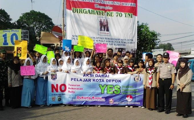 Puluhan Siswa SMK Negeri 2 Depok Gelar Aksi Damai