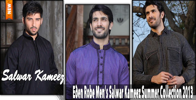 Eden Robe Men's Salwar Kameez Summer Collection 2013