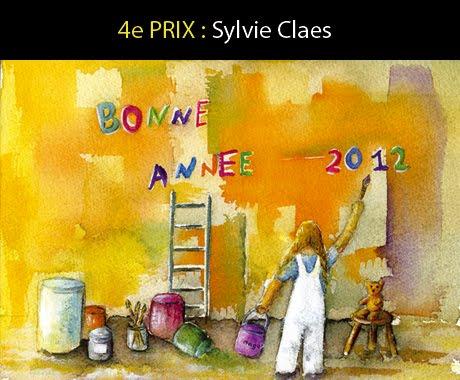 4ème prix carte de bonne année 2012 Artistes Magazine, aquarelle