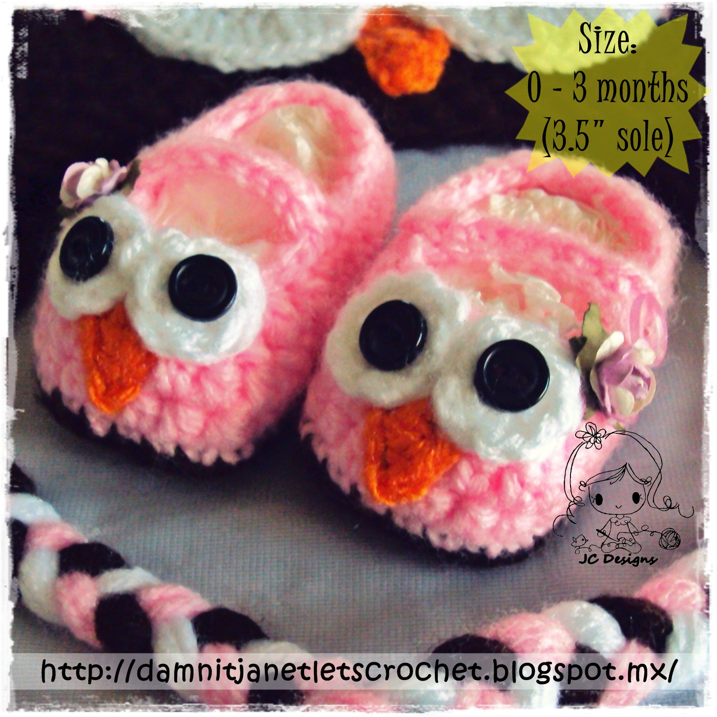 damn it Janet, lets crochet!: Baby Owl Booties