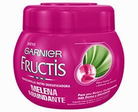 Fructis Melena Abundante Garnier mascarilla nutri densificadora