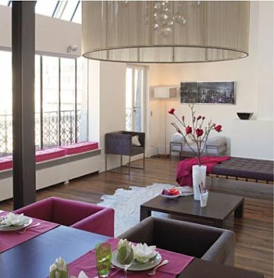Sala de estar elegante y femenina