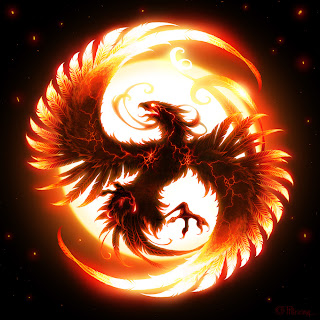 4 Dewa Mata Angin, burung api, suzaku,