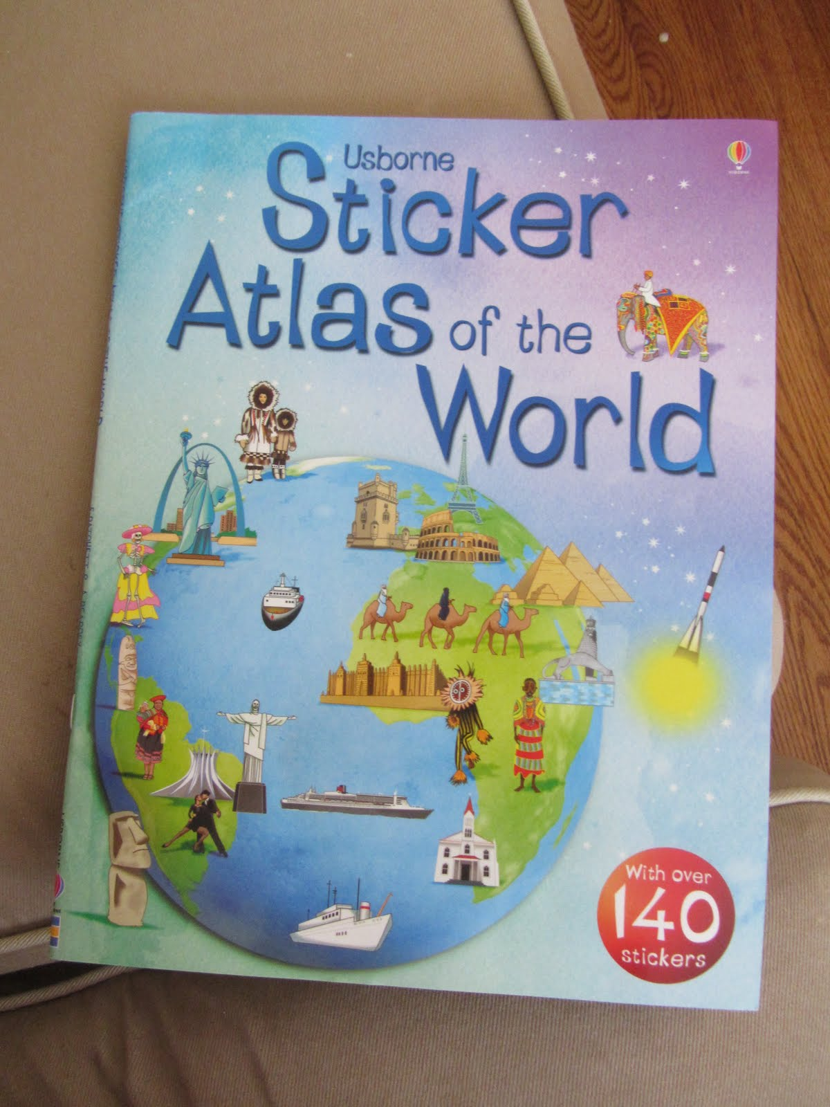 Dk first atlas and usborne sticker atlas of the world my eclectic so using this book for stickers instead of making my own we will read through our atlas like we planned but find the stickers for that part of the world gumiabroncs Image collections