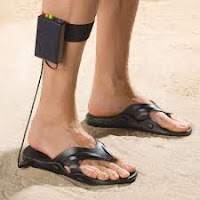 metal detecting sandals from hammacher.com