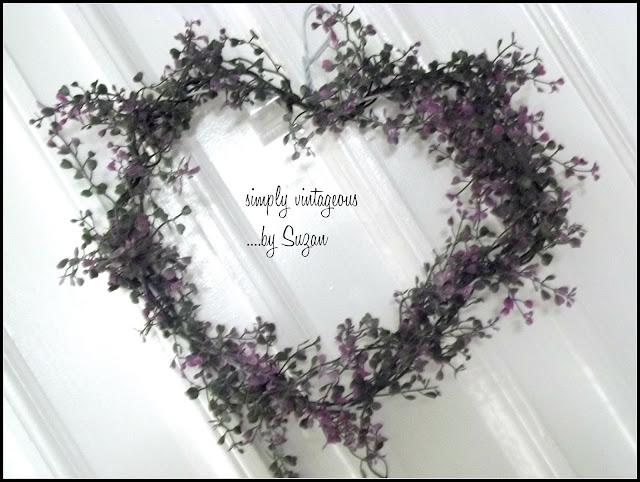 heart, wreath, flowers, fast, hanger
