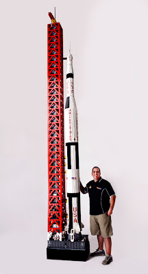 A lego rocket - click here to visit his site