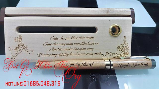 Quà tặng bút gỗ khắc tên ý nghĩa