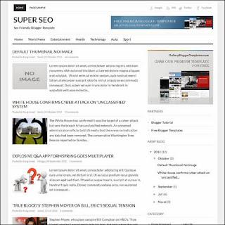 Super SEO free blogger template