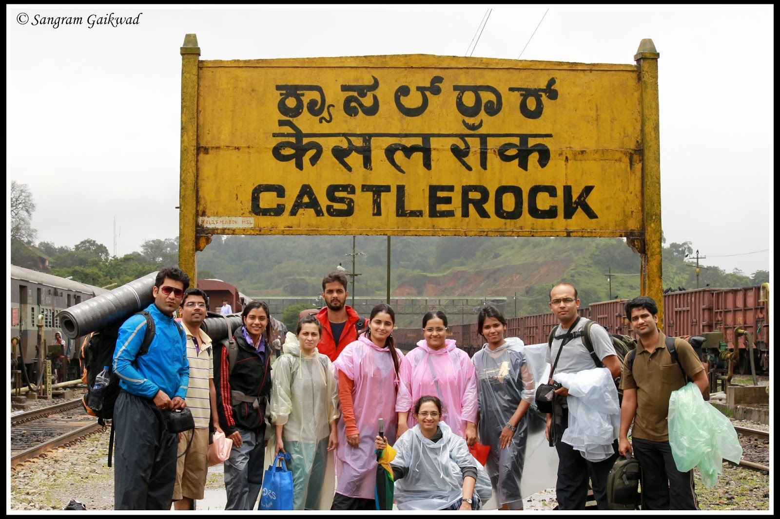 Dudhsagar fall trek group