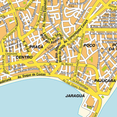Mapa do centro de Maceió