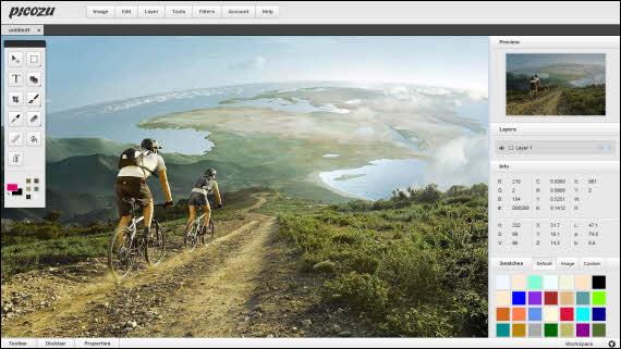 Crea y edita imágenes con el editor online Picozu
