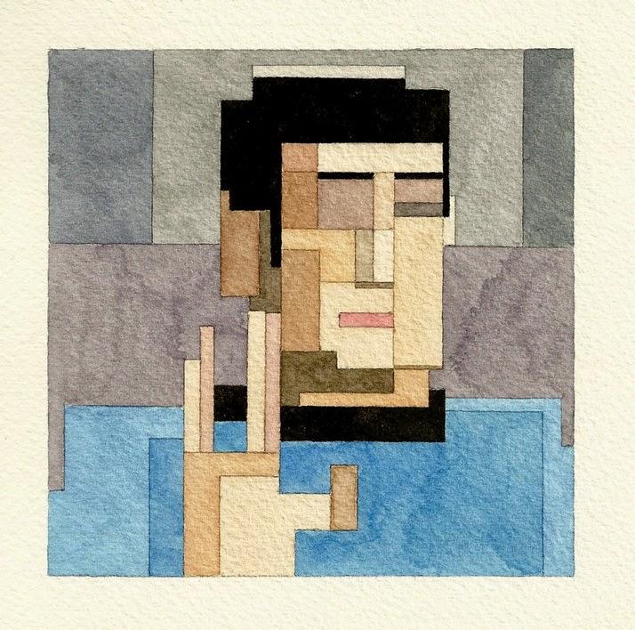 Adam Lister, acuarelas 8 bits, Spock