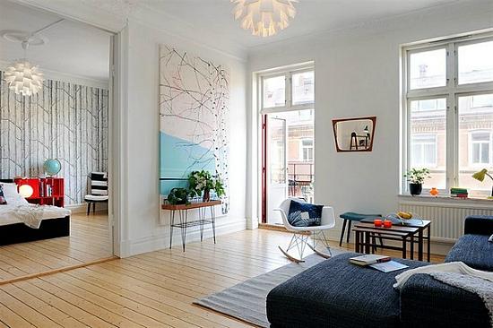 Lindos y acogedores departamentos decoraci n escandinava for Luces interiores