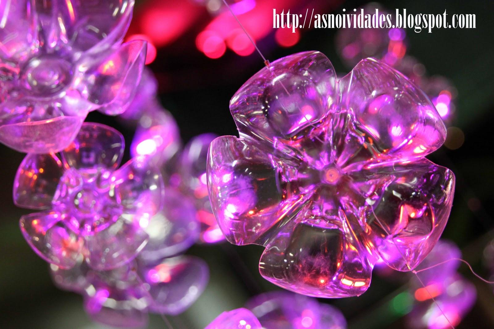 As Noividades RELATO 14 Decoraç u00e3o da festa (As famosas garrafas PET) -> Decoração De Festa Com Garrafa Pet