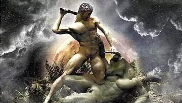 Γίγαντες και Γιγαντομαχία!! γεννήθηκαν από το σώμα της Γης όταν έσταξε πάνω του αίμα από την πληγή του Ουρανού!!