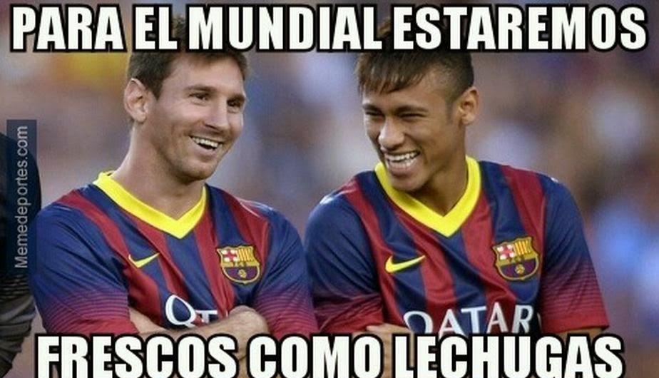 Messi y Neymar, para el mundial estaremos frescos como lechugas
