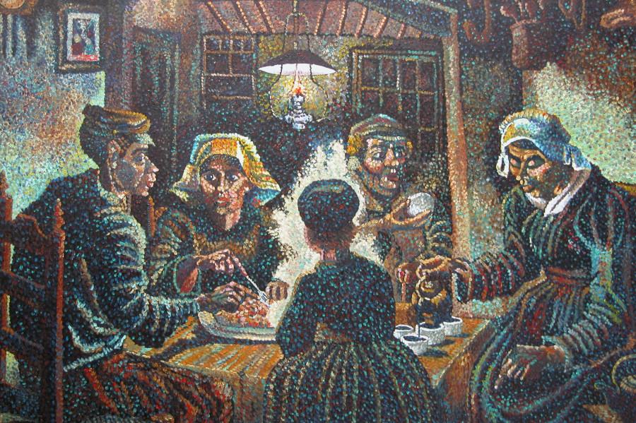 El blog del artista aldeanos comiendo patatas - Van gogh comedores de patatas ...