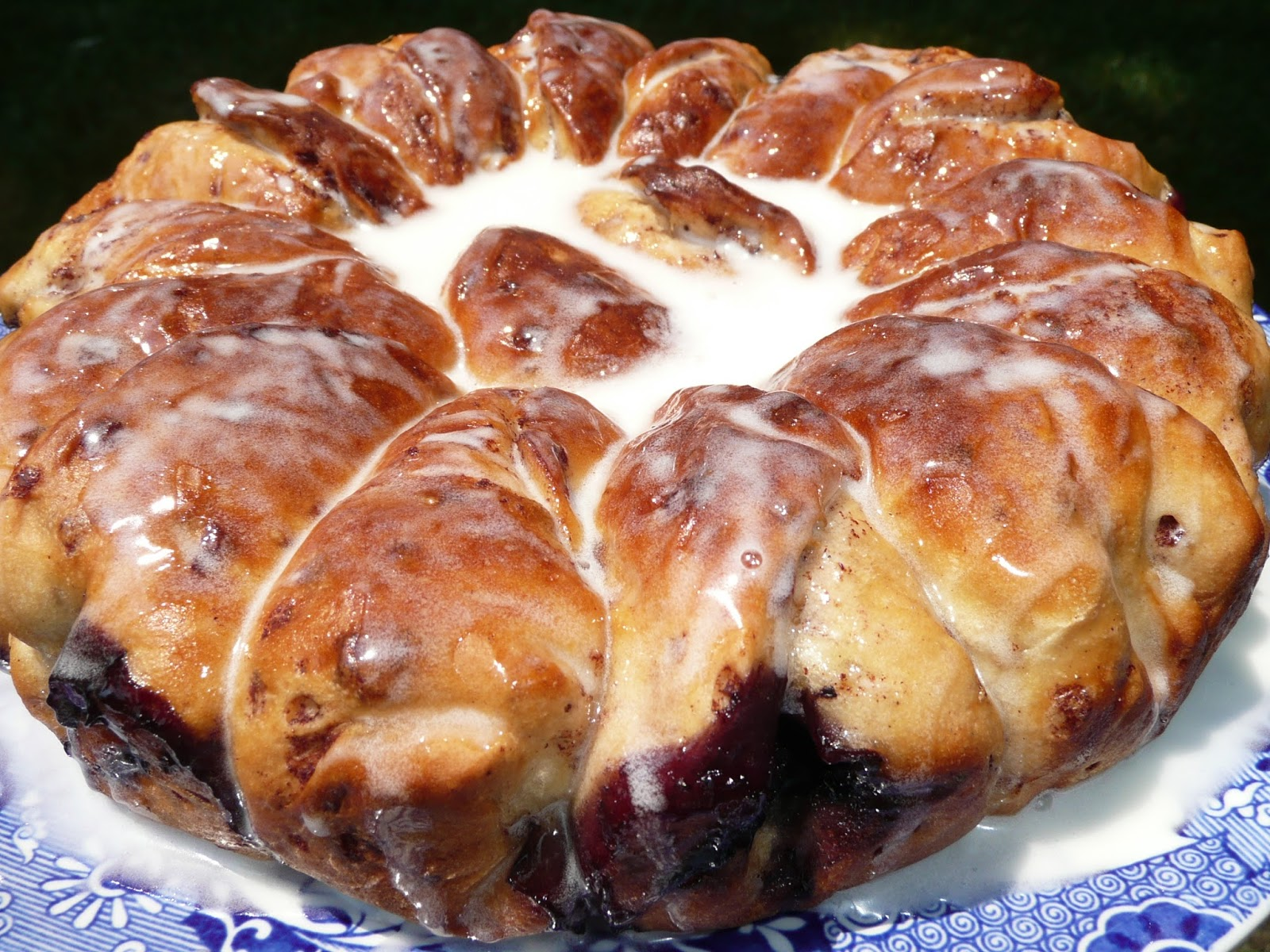 Everyday Dutch Oven: Blueberry Cinnamon Roll Coffee Cake
