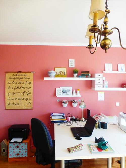 Arbeitszimmer Rosa Kronleuchter