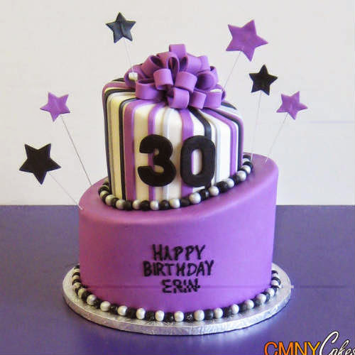 Purple color birthday cakes