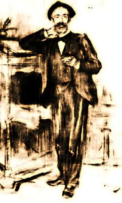 Retrat d'Apel·les Mestres (Ramon Casas i Carbó)