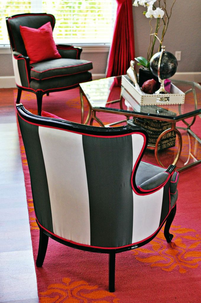 pleasurable contemporary chairs for living room. Double the Pleasure  One Chair Two Fabrics Live Laugh Decorate