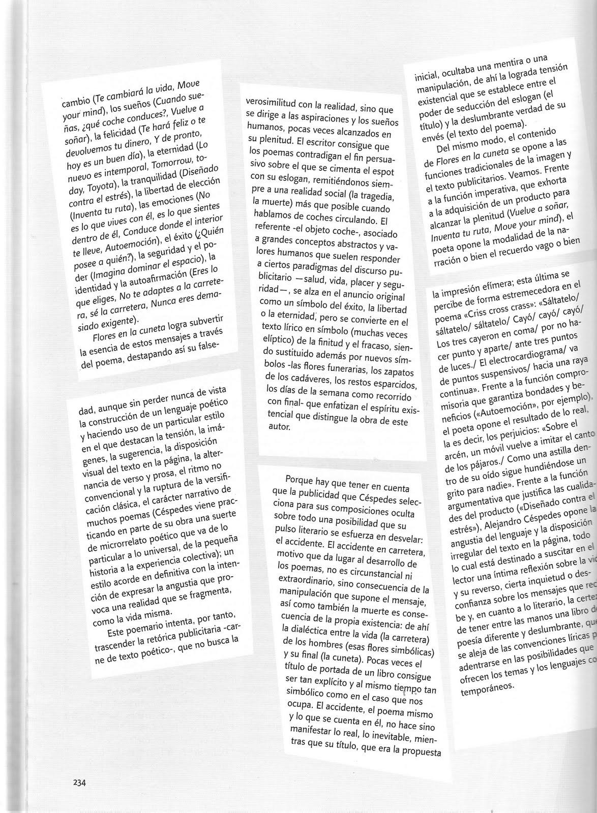 """Reseña """"Flores en la cuneta"""" en """"El Maquinista de la Generación"""" (2ª parte)"""