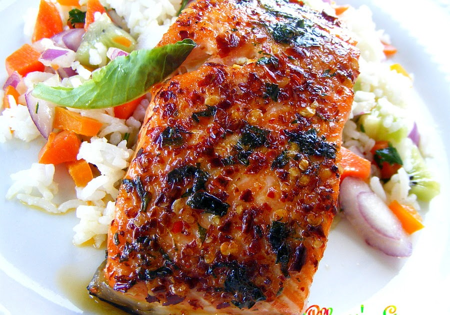 Food and lens: Pepper Grilled Salmon