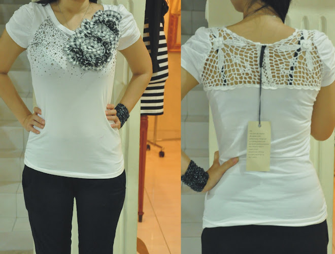 blouse import bordir bunga