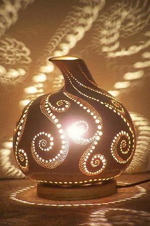 Luminária cabaça