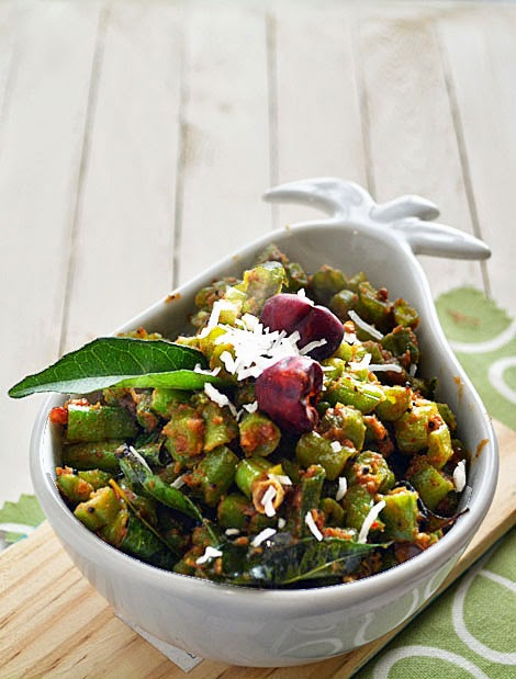 Beans mezhugupuratti- kerala style Beans Stir Fry Recipe