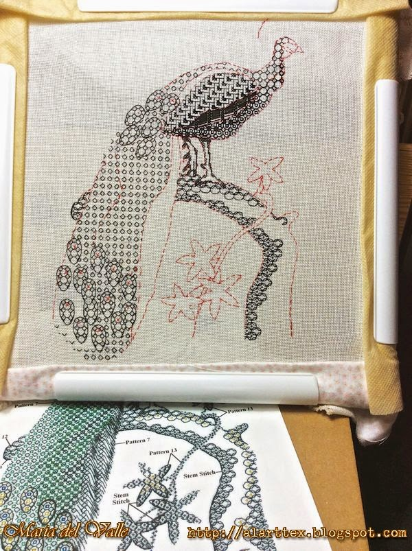 Blackwork Embroider-Peackok-3